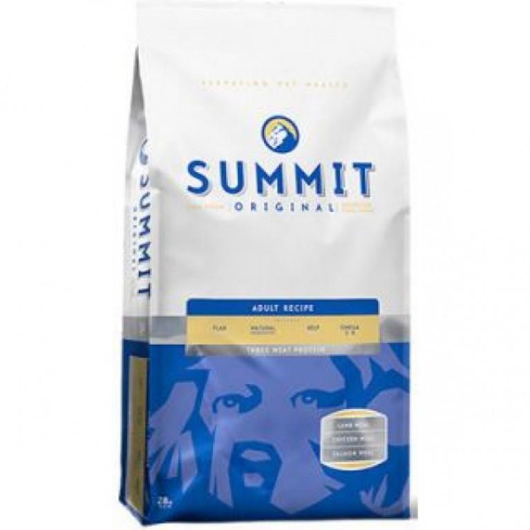 Корм Summit holistic для собак три вида мяса c цыпленком, лососем и ягненком, Original Three Meat, Adult Recipe DF 12,7 кг