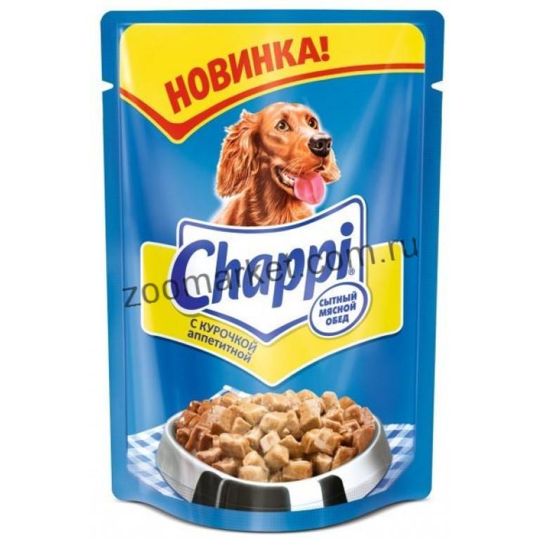 Chappi Консервы для собак (Курочка Аппетитная) 100г, 5 шт
