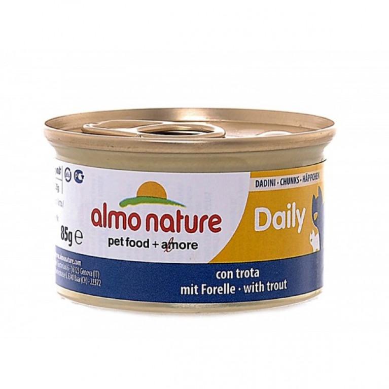 """Almo Nature Daily Menu Cat Trout консервы для кошек """"Меню с форелью """" 85 г"""