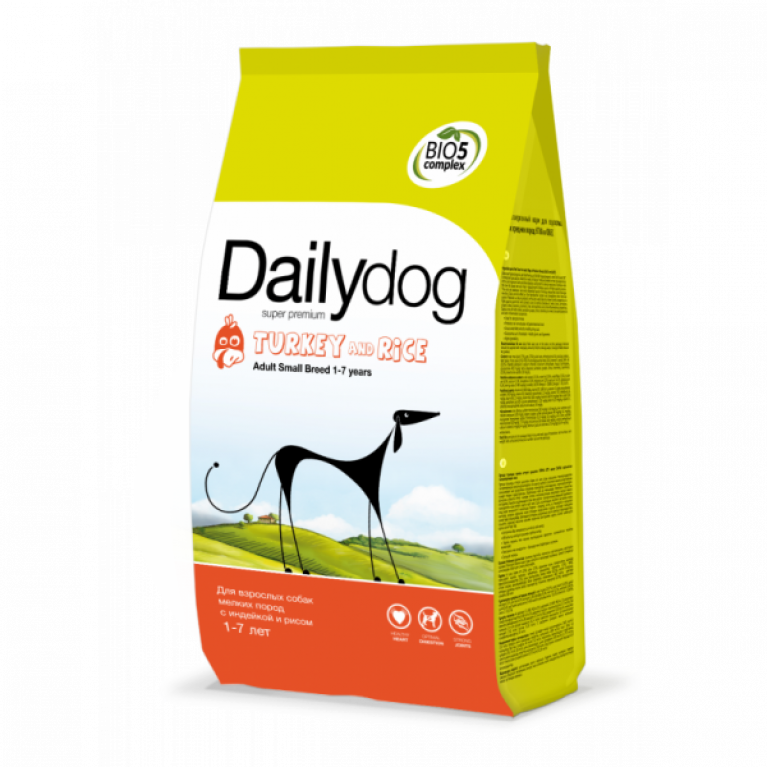 Dailydog ADULT SMALL BREED Turkey & Rice/Для взрослых собак мелких пород с индейкой и рисом