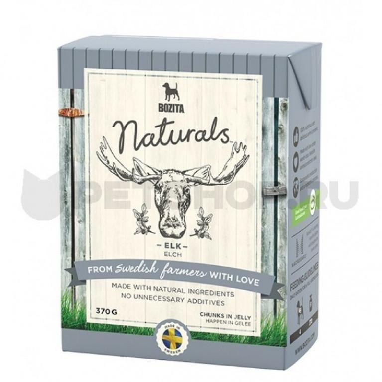 Bozita Naturals кусочки в желе для собак с мясом лося 370г