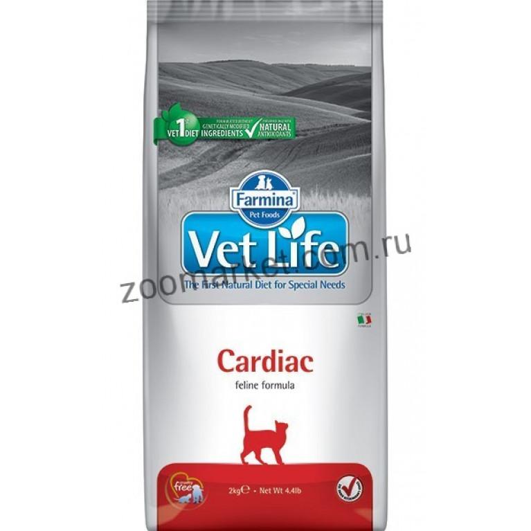 Farmina Vet Life Cat Cardiac/Диетическое питание для  кошек поддержания работы сердца при хронической сердечной недостаточности