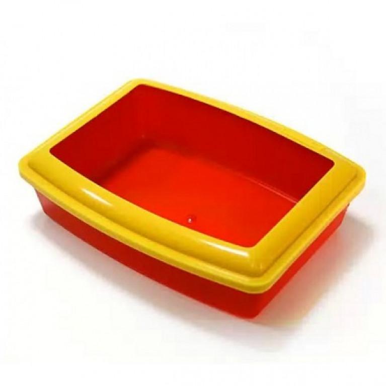 Вака Глубокий с бортиком туалет для кошек 43*31*13 см