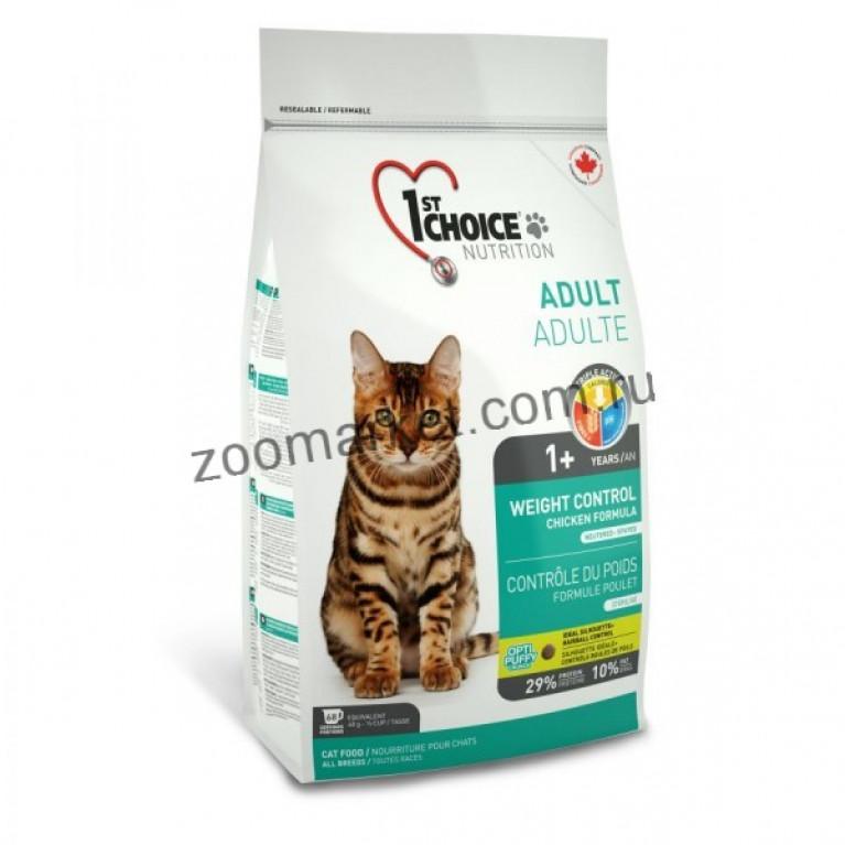 1st Choice Weight Control Сухой корм для кошек с избыточным весом и стерилизованных