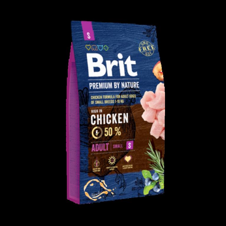 Brit Premium by Nature Adult S/ Полнорационный корм для взрослых собак маленьких пород (до 10кг)