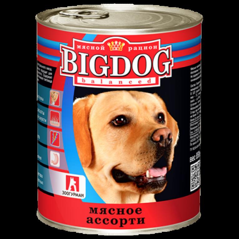 """Big Dog консервы для собак """"Мясное ассорти"""" 850гр"""