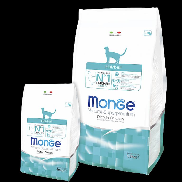 Monge Cat Daily Line Hairball корм для кошек для выведения шерсти