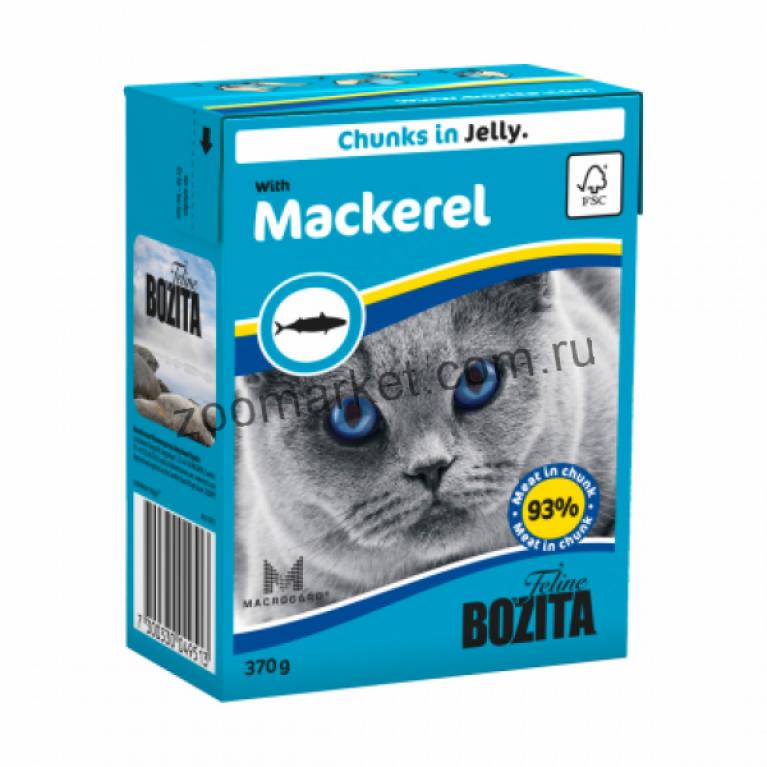 Bozita Консервы для кошек (Кусочки в желе со Скумбрией) 370 гр