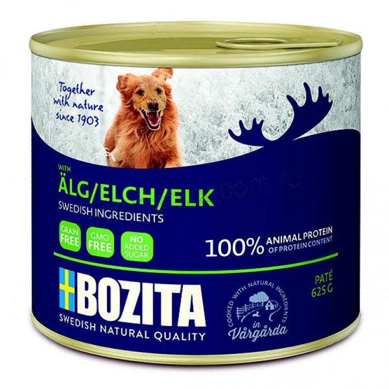 Bozita Консервы для собак, паштет с Лосем 625 гр