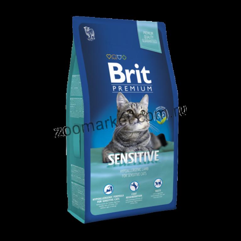 Brit Premium Cat Sensitive/Полнорационный сухой корм для кошек с чувствительным пищеварением