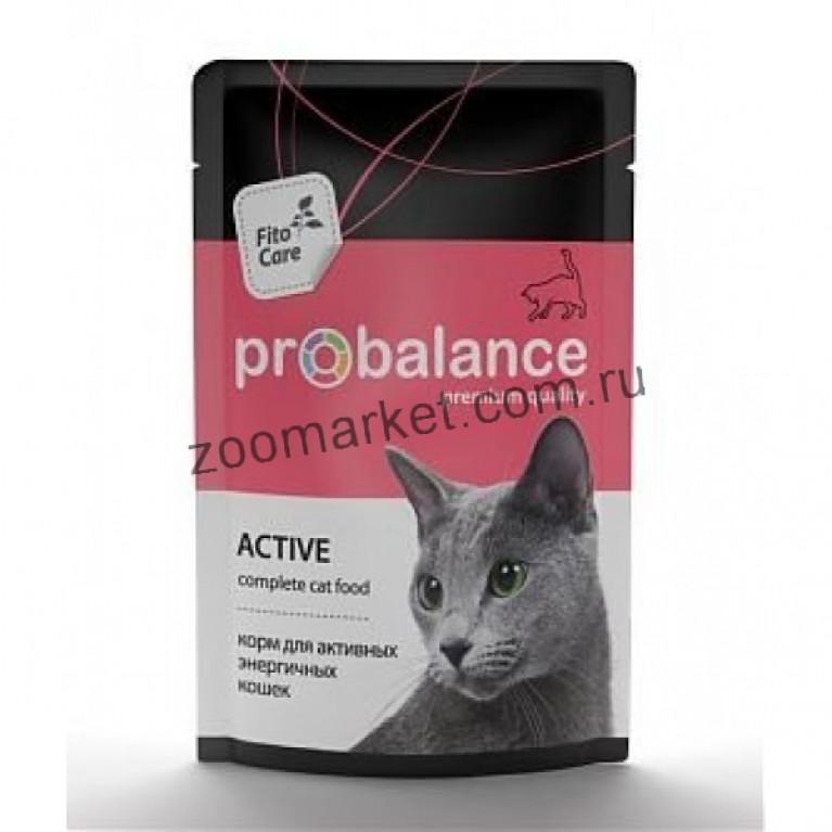 ProBalance Актив пауч для активных кошек 85гр, 5 шт