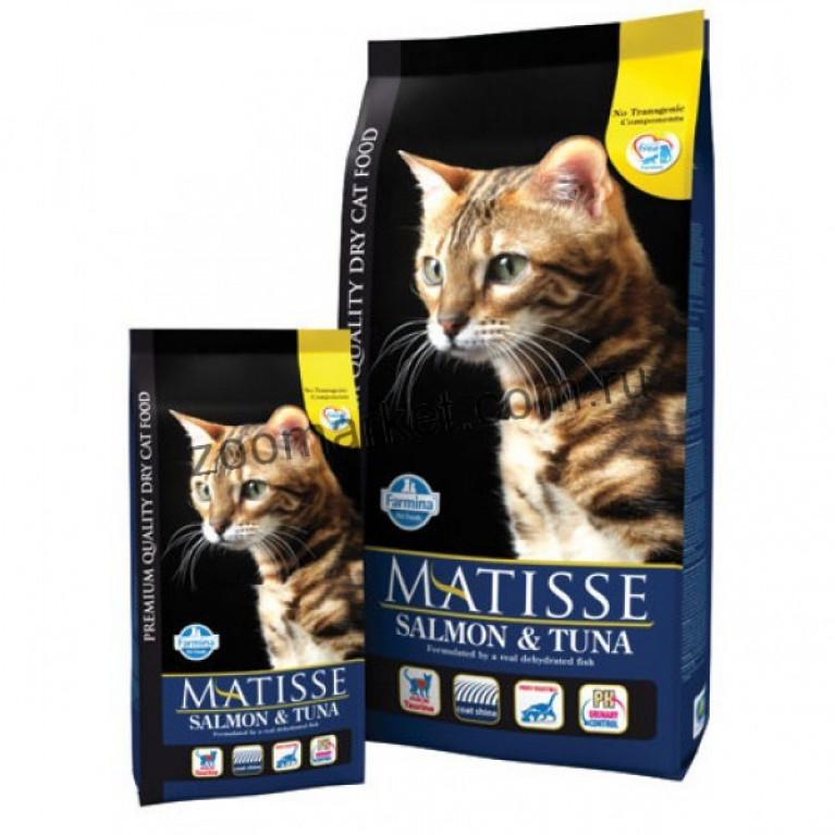 Farmina Matisse Salmon&Tuna/Полнорационный и сбалансированный корм для взрослых кошек (Лосось с тунцом)