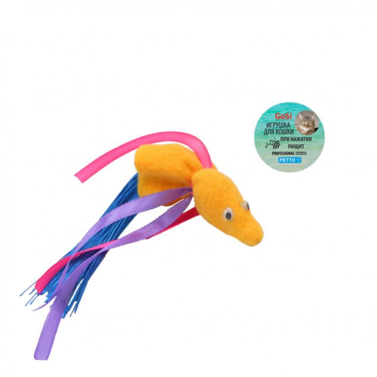 """GoSi Игрушка """"Золотая рыбка желтая  с пищалкой"""