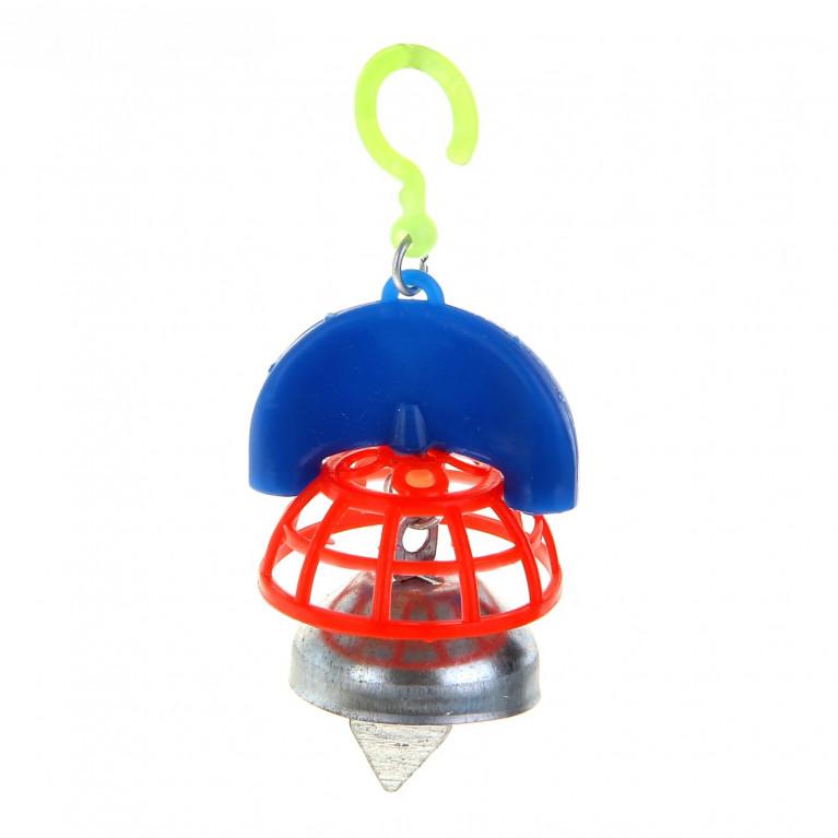 Игрушка для птиц с колокольчиком №1 микс цветов