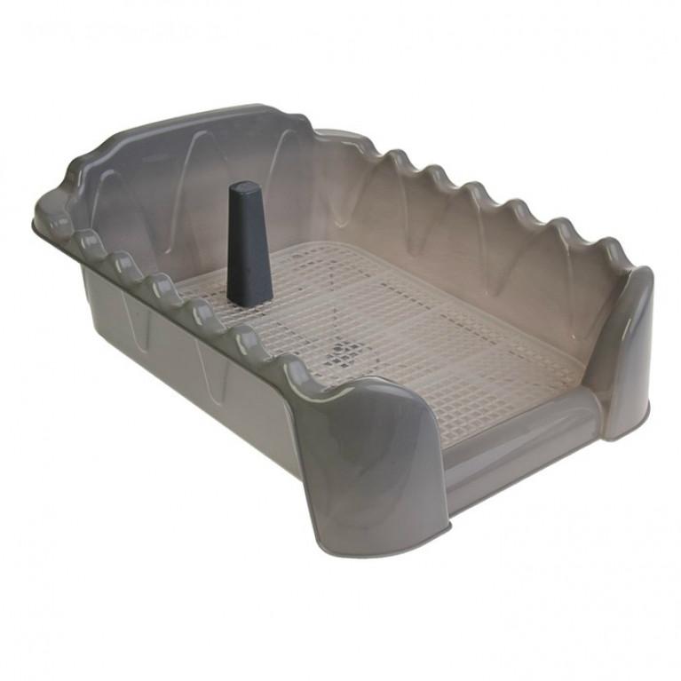 Туалет Риф со столбиком, для собак, 60 х 40 см