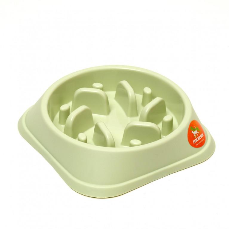 """Миска """"Медленное кормление"""", от переедания, 20 х 20 х 4,5 см, зелёная"""