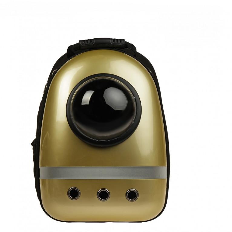 Рюкзак для переноски животных с окном для обзора, 32х26х44 см Золотистый
