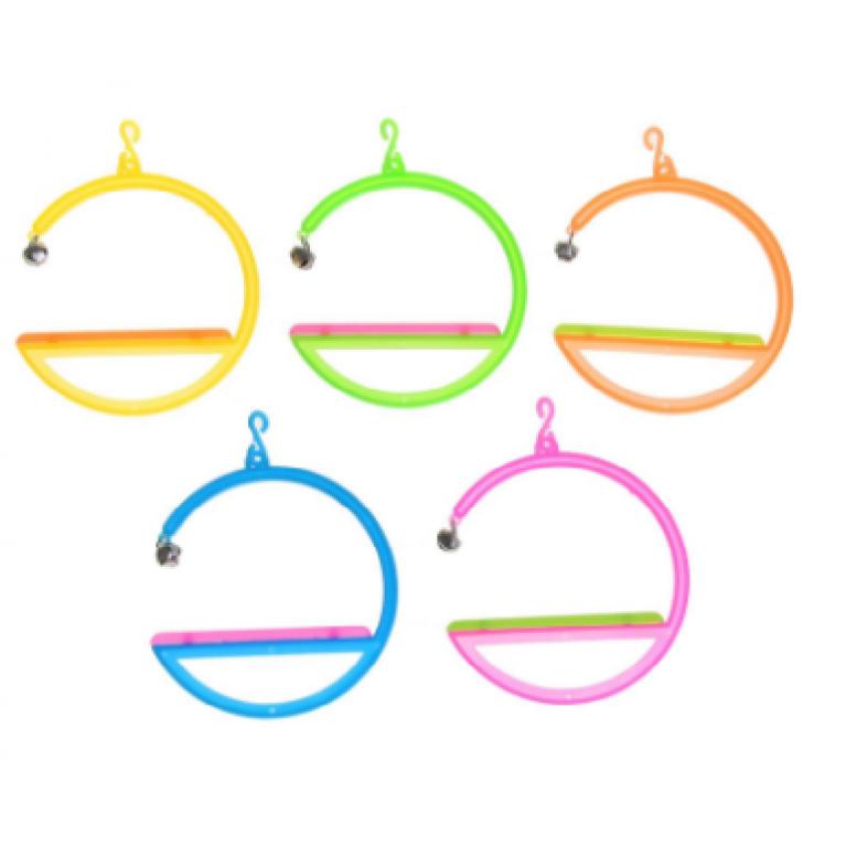 Игрушка для птиц качели-кольца, микс цветов