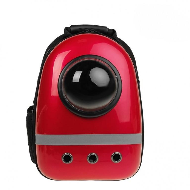 Рюкзак для переноски животных с окном для обзора, 32х26х44 см Красный