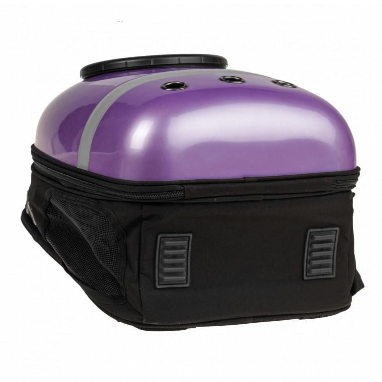 Рюкзак для переноски животных с окном для обзора, 32х26х44 см Cиреневый