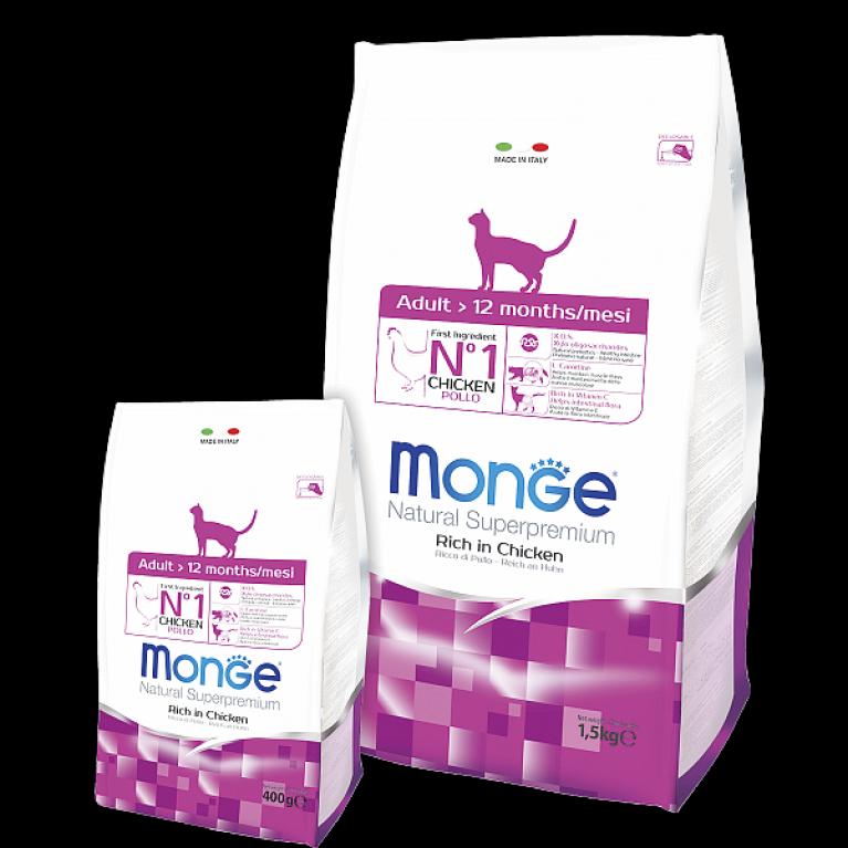 Monge Cat Daily Line Adult Сухой корм взрослых кошек с курицей и рисом