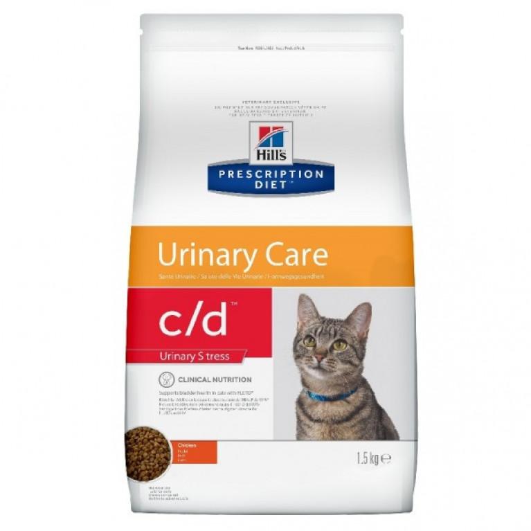 Hill's Prescription Diet С/D Сухой корм для кошек Диета при стрессе