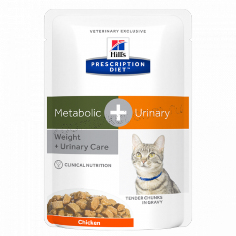 Hill's Prescription Diet Metabolic+Urinary Пауч для кошек для коррекции веса + урология 85 г