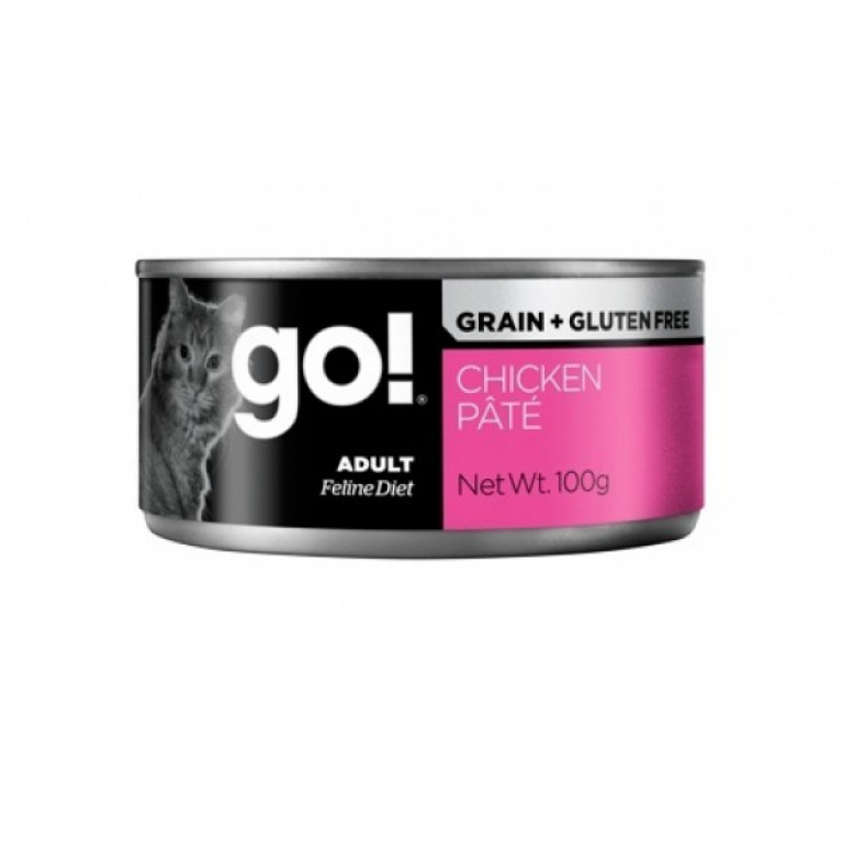 GO! NATURAL Holistic консервы беззерновые с курицей для кошек 100гр