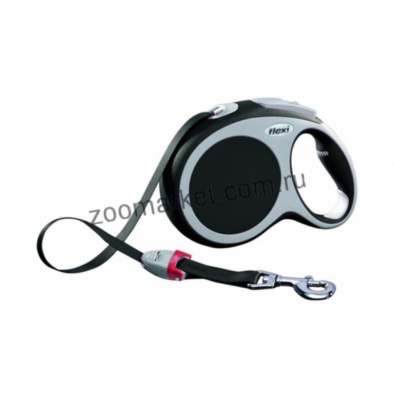 Flexi VARIO(L)/Поводок-рулетка ремень для собак до 50 кг (8м)