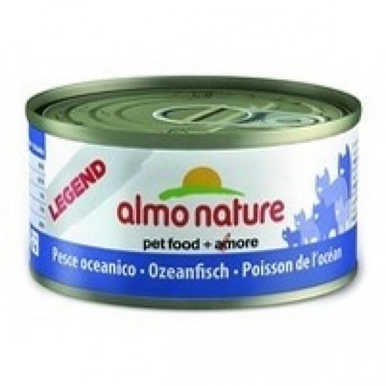 Almo Nature консервы для кошек с океанической рыбой, 75% мяса, Legend HFC Adult Cat Oceanic Fish 70 гр