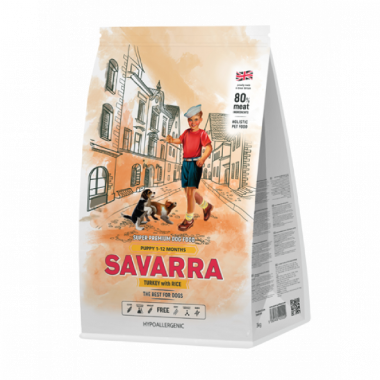 SAVARRA Puppy/ Сухой корм для щенков (Индейка/рис)