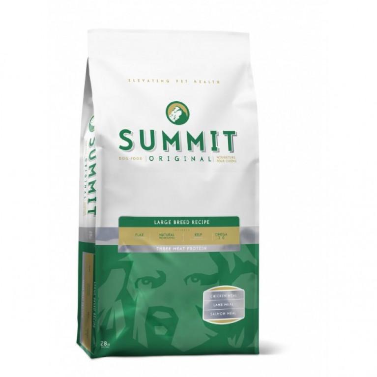 Корм Summit holistic для собак крупных пород три вида мяса с цыпленком, ягненком и лососем 12,7 кг