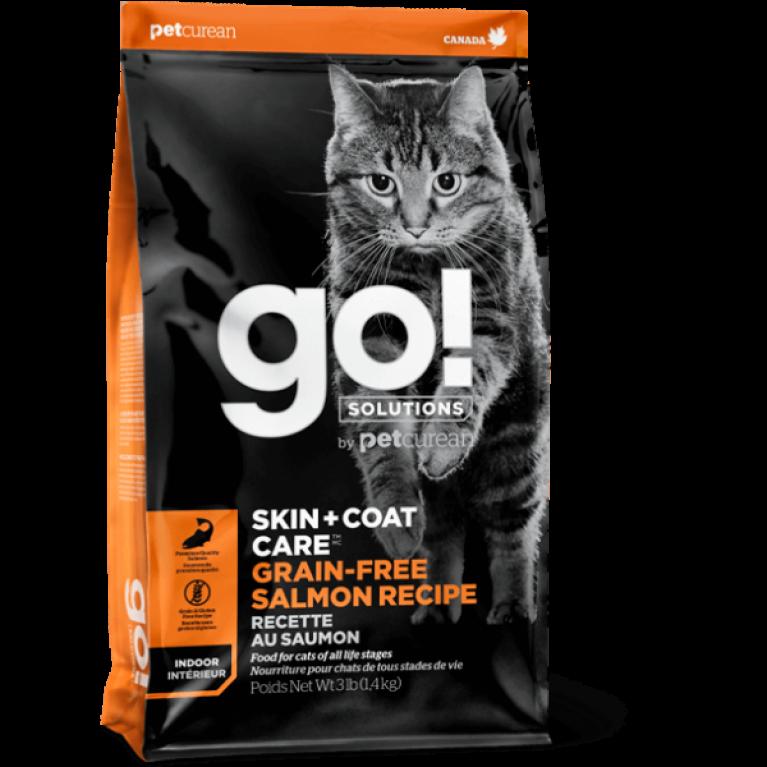 GO! SKIN + COAT Grain Free Salmon Recipe CF Беззерновой корм для Котят и Кошек с Лососем