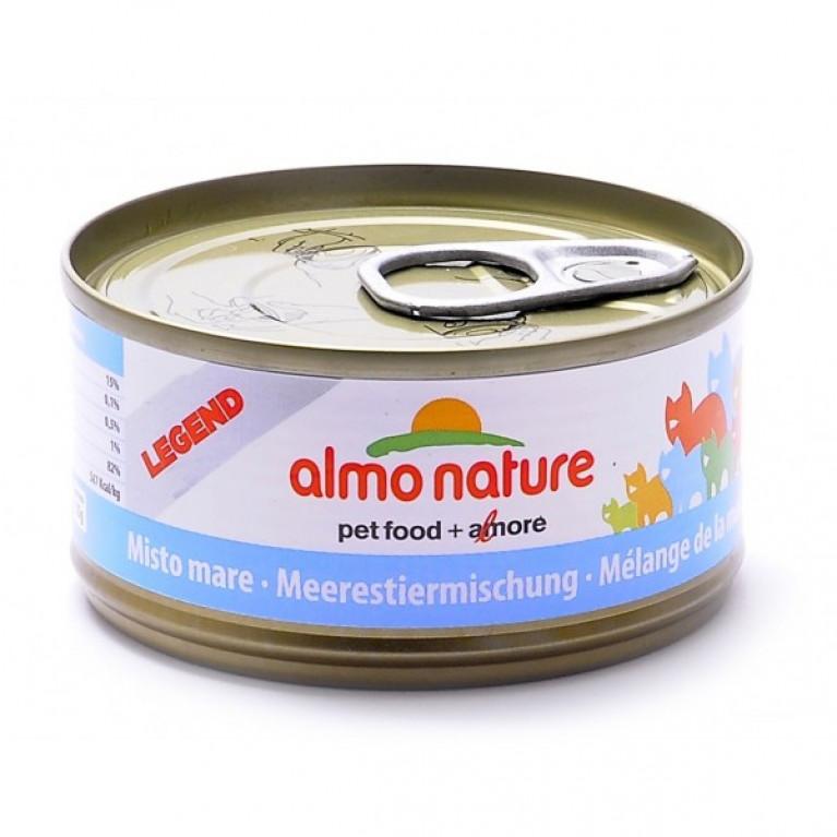 Almo Nature консервы для кошек с морепродуктами, 75% мяса, Legend HFC Adult Cat Mixed Seafood 70 гр