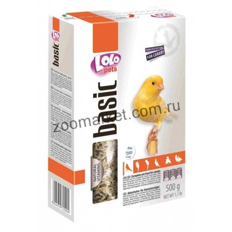 Lolo Pets Basic For Canary полнорационный корм для канарейки, 500 гр