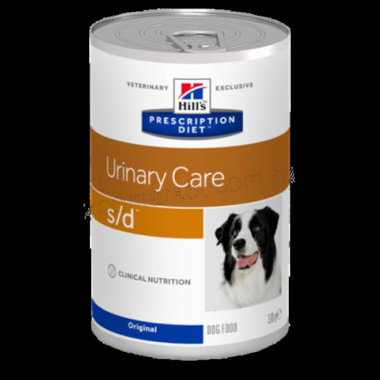 Hill's Prescription Diet S/D Консервы для собак лечение МКБ струвиты 370 г