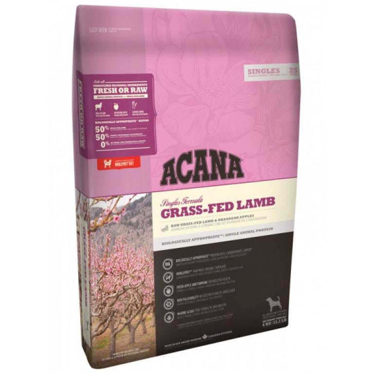 Acana Grass-Fed Lamb Dog Корм для взрослых собак всех пород (ягненок с яблоком)