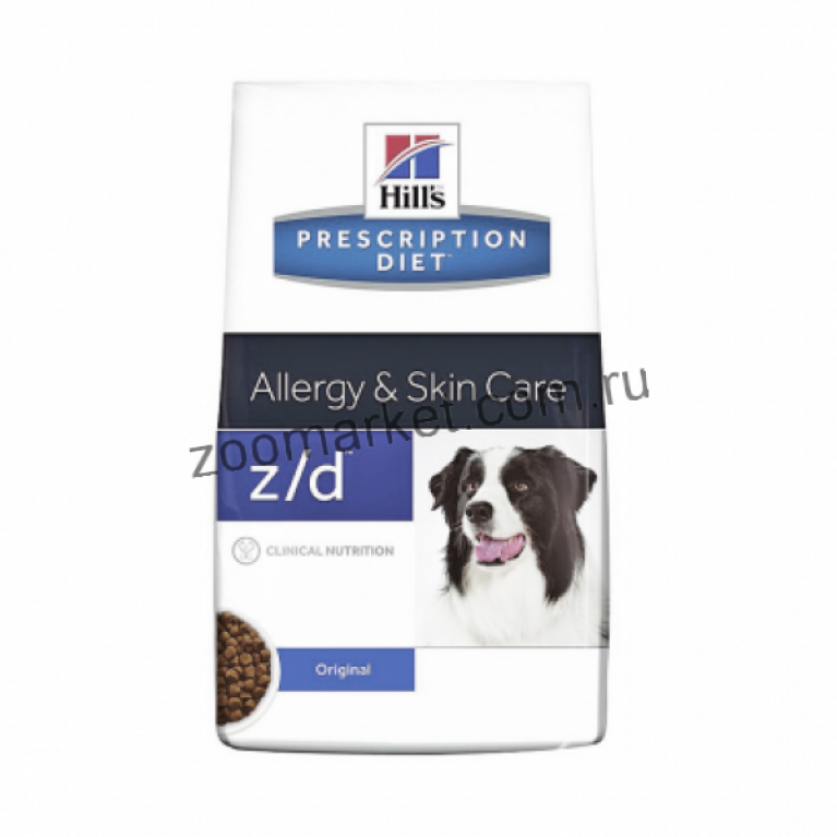 Hill's Prescription Diet Z/D Ultra Сухой корм для собак лечение острых пищевых аллергий