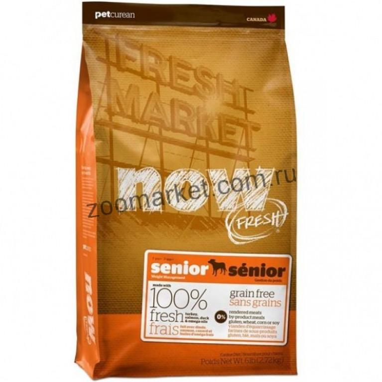 Now Fresh Senior Recipe Grain Free/Беззерновой корм для пожилых или с избыточным весом собак всех пород с индейкой, уткой и овощами