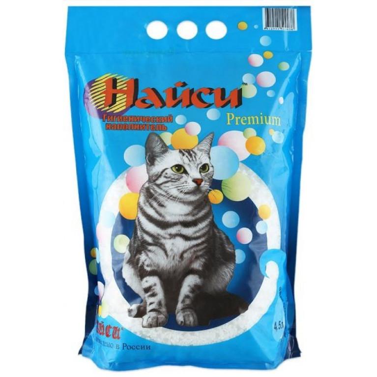 """Найси """"Premium"""" силикагелевый, наполнитель для кошачьего туалета 4,5 л"""