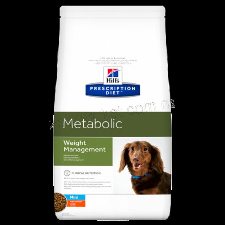 Hill's Prescription Diet Metabolic Mini Сухой корм для собак для коррекции веса