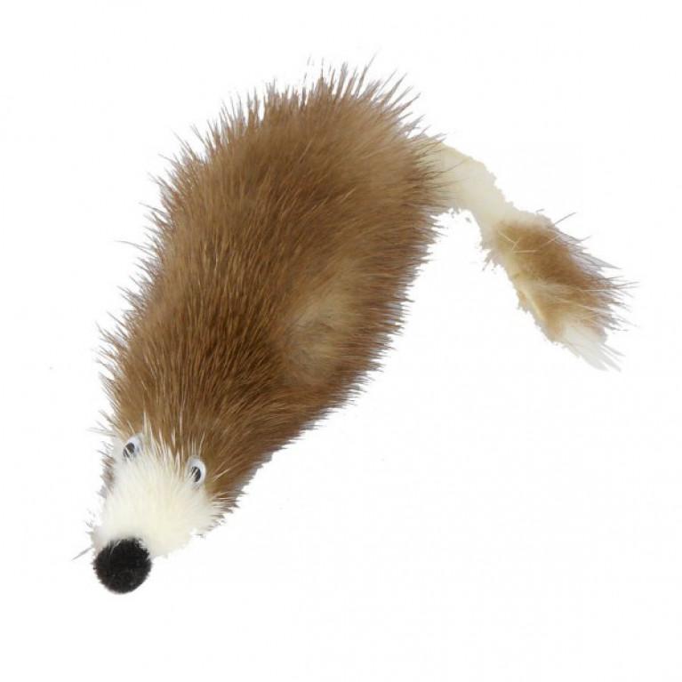GoSi Игрушка Мышь норка M мышь из натуральной норки 5 см