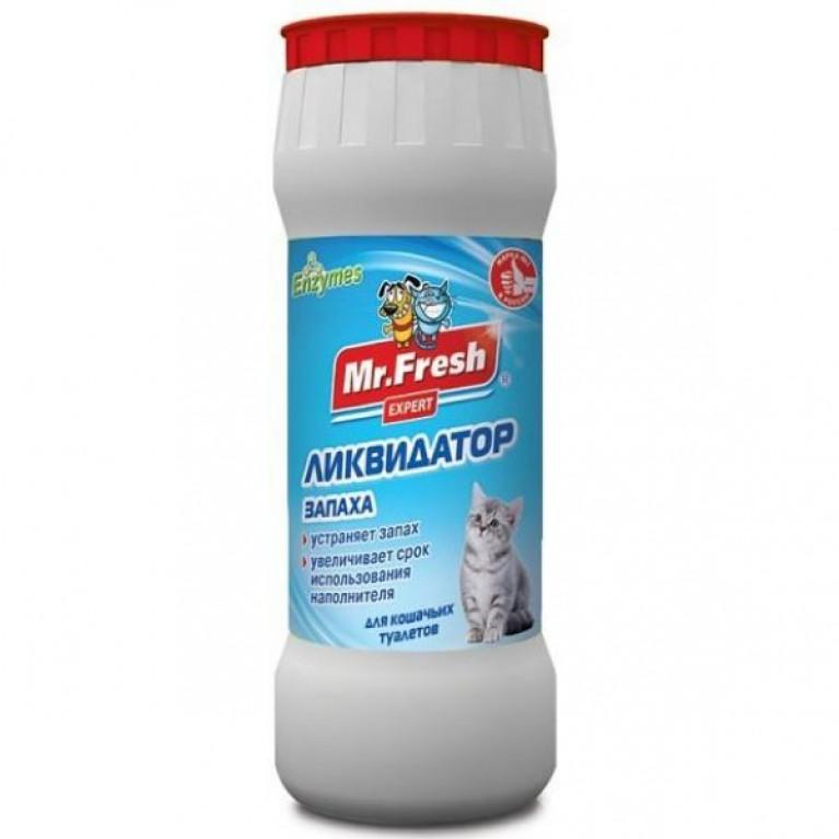 "Mr. Fresh ""Expert 2 в 1"" Ликвидатор пятен и запаха для кошек (порошок), 500 г"