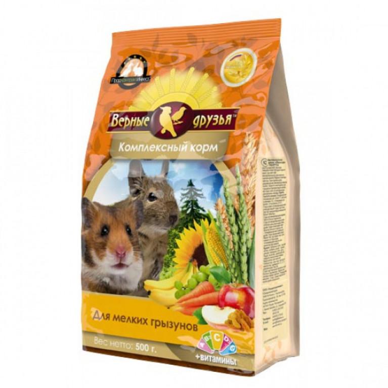 Верные Друзья корм для мелких грызунов 500гр  (мягкая упаковка)