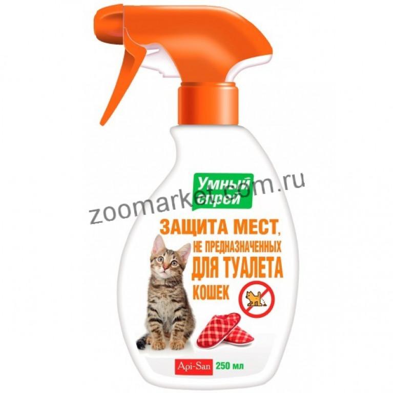 Api-San Умный спрей Защита мест НЕ предназначенных для туалета для кошек 200 мл