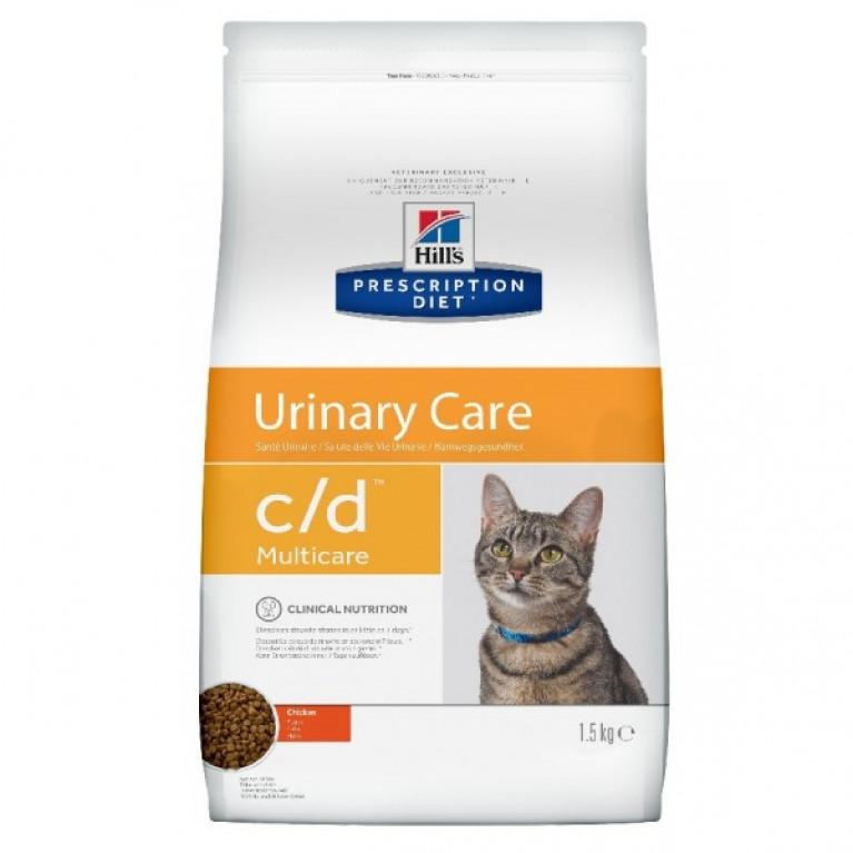 Hill's Prescription Diet С/D Сухой корм для кошек профилактика МКБ с Курицей