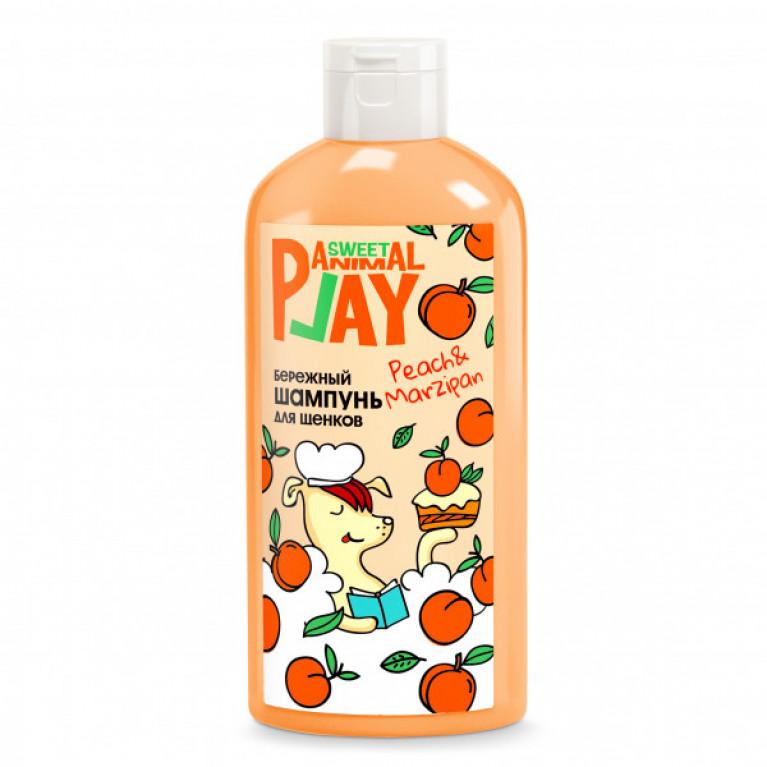 Animal Play Sweet Персиковый марципан бережный шампунь для щенков и котят, 300мл