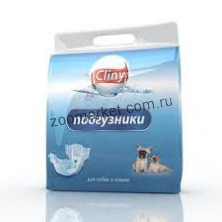 Cliny подгузники для собак и кошек 8-16 кг размер L 8 шт.