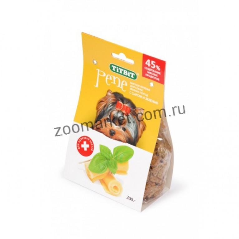TiTBiT PENE Печенье  д/мелк собак с Сыром и Зеленью, 200 г