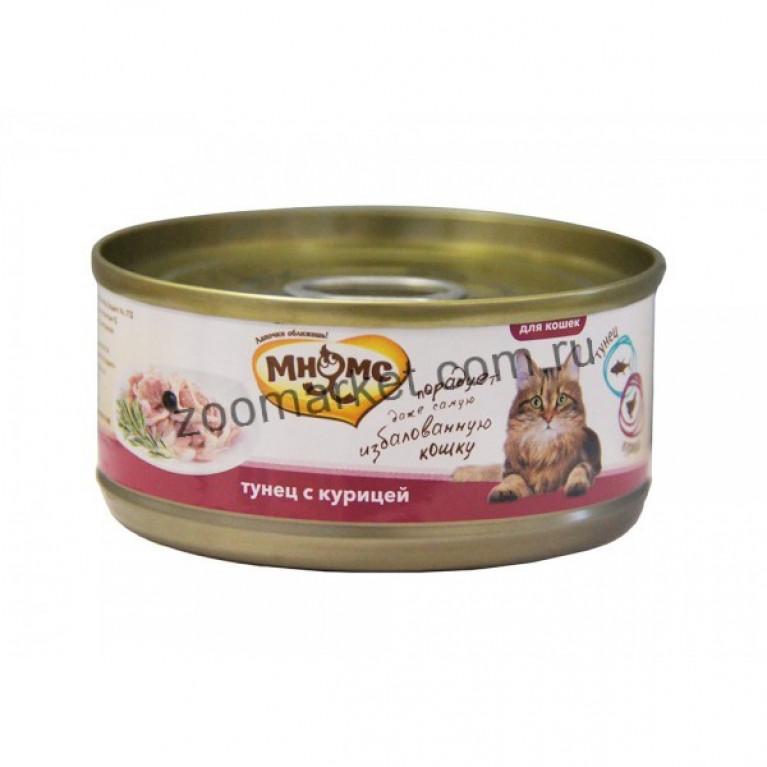 Мнямс Консервы для кошек (Тунец с курицей в нежном желе) 70 гр